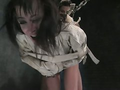 Cecilia Vega gets tied up and ass fisted by lesbian dominatrix...