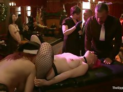 Lux Fury submits to the sadistic hands of Christine and UV and ends...
