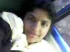Indian Girl Showing boobs in car