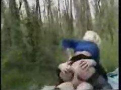 HOT BLONDE MOM FUCKED HARD IN FOREST - JP SPL