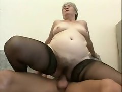 Old granny fuck young man