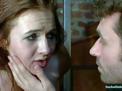 Brown haired slave girl Ashli Orion is naked to be