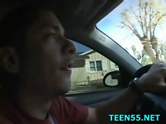 Wild teen mounts a huge dick