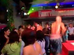Sluts enjoying striptease at party