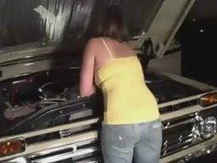 Amateur Couple Fucking In Car Garage