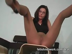 Pantyhose foot fetish