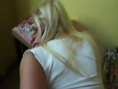 Blonde slut has her ass fucked for cash