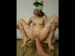 Chinese amatuer slut huge dildo 1