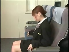 Jizz shots on asian stewardess