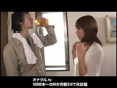 Japanese Naughty Wife  fucking cute Bukkake Blowjobs creampie