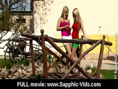 Young Lesbian Teen Babes Lick and Kiss 25