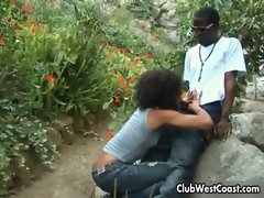 Black girl is teasing her guy