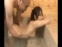 Hypnotised asian twin sisters sharing a guys cock