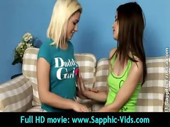 Sexy Young Lesbian Babes Enjoy Oral Sex - Sapphic Erotica 22