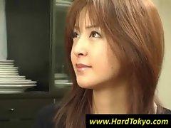 Asian girl teasing two dudes