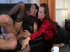 A hot classy threesome in the sittingroom for these sluts