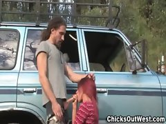 Guy gets the girl and a pickup truck how cool is that