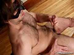 Hairy pierced guy jerking off 4 gay porno