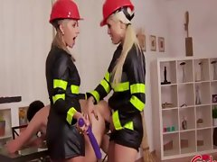 Firefighters administer anal to a pyro