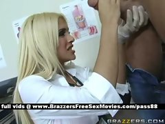 Young Blond doctor in her office
