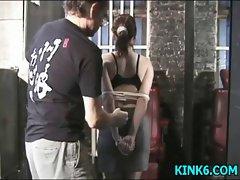 Slow spanking the woman