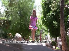 Alanna _ Amateur Blond masturbating with a vibrator outdoors and squirting