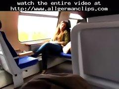 Masturbating In German Train  german ggg spritzen goo girls