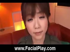 Cute Japanese Babes Nasty Facial Cumshots  12