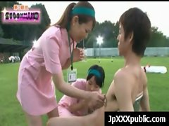 Hot Young Japanese babes Fuck In Public video-17