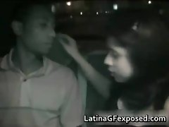 Latin chick gives a warm blowjob