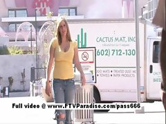 Candace stunning busty light-haired teen public flashing