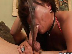 Nastiest Asian dick sucking in history