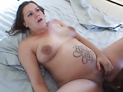 Ebony Stud Screws Friend's Pregnant Slutty wife