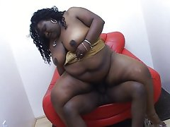 Office Thick slutty ebony girlie humping him well