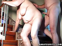 Heavy amateur better half toys and caresses and banged