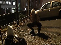 KazB night of exhibitionism and blond young lady