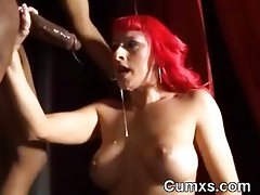 Slutty ebony Hussy Stroking BBC And Crushed