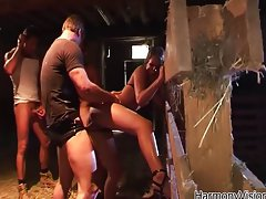 Sensual nympho gets banged wild in a village
