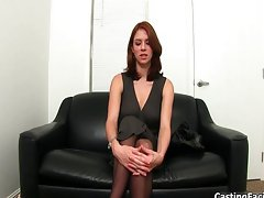 Casting couch chick showing her good body