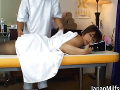 Asian mum has massage and screwing