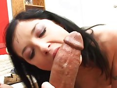french young woman with bbc rectal