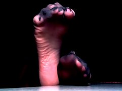 Sexual feet tease with sheer toes and wrinkled soles
