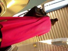 Upskirt Escalator 54 - Muslima Long Dress Gorgeous Dirty ass