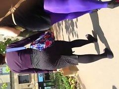 purple pantyhose
