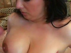 plump dark haired licks shaft