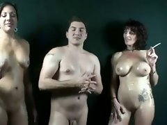 Smoking Mama Raquel Amato Bangs Her StepSon and StepDaughter