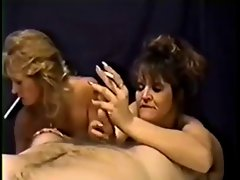 Retro Smoking and Giving blowjob