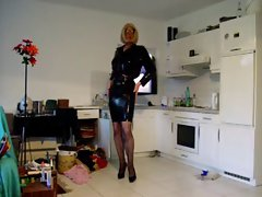 rubber latex high heels bitch mum rectal shemale sissy