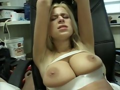 Light-haired Cunt Bound and Shagged by her boss