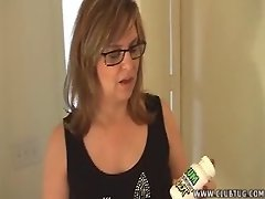 Lady Wearing Glasses Gets Blasted